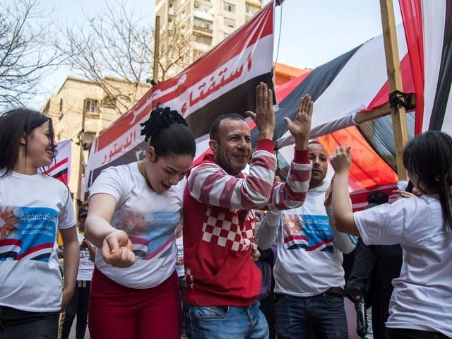 Egypte: muziek, gratis boodschappen en ijsjes in ruil voor een stem