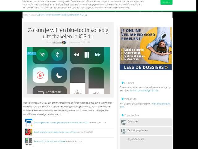 Zo kun je wifi en bluetooth volledig uitschakelen in iOS 11
