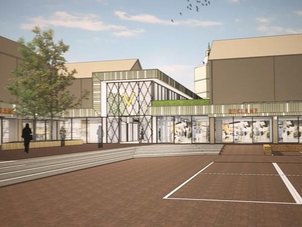 Nieuw ontwerp winkelcentrum 'In Den Vijfhoek' Oldenzaal valt in de smaak