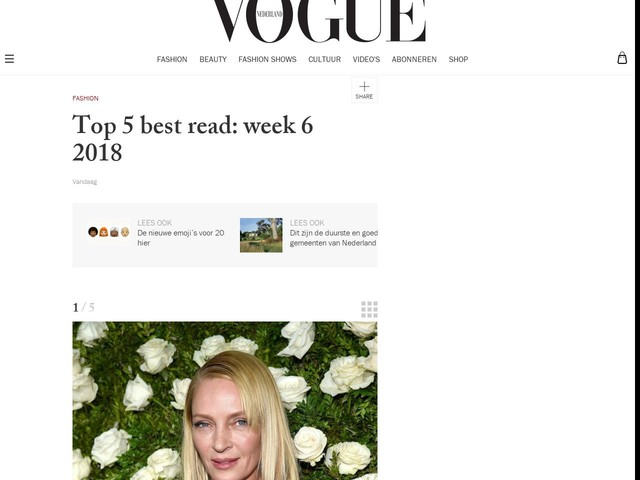 Top 5 best read: week 6 2018