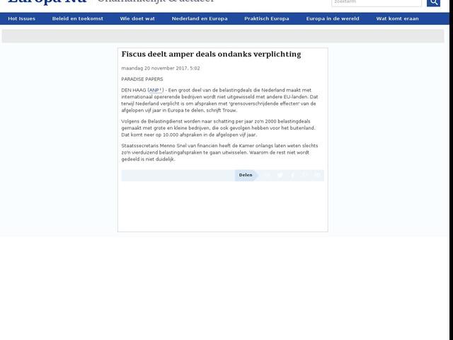 Fiscus deelt amper deals ondanks verplichting