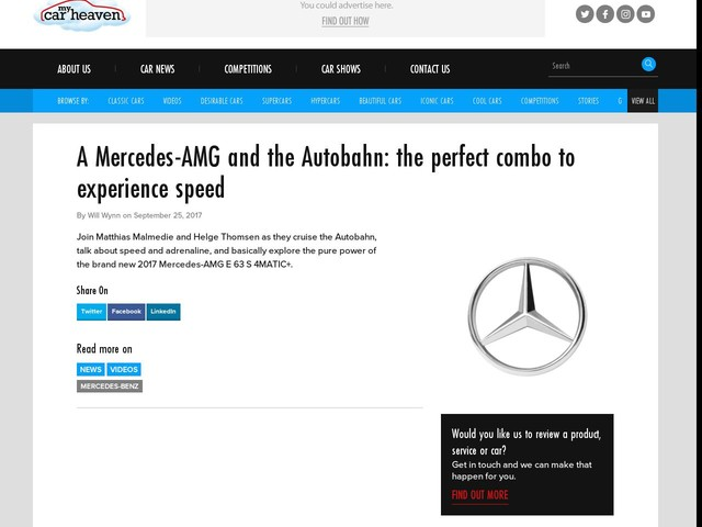 A Mercedes-AMG and the Autobahn: the perfect combo to experience speed