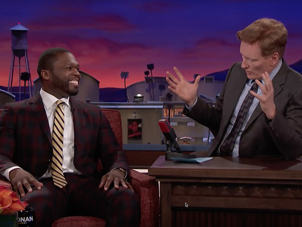 50 Cent Critiques 4:44 (Again), Talks Kanye West, Trump on 'Conan'