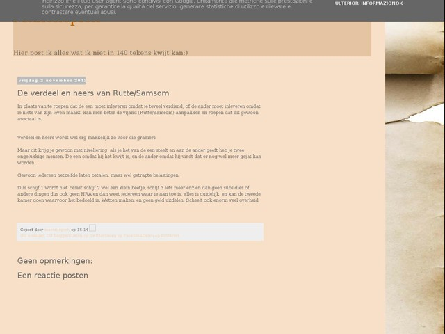 De verdeel en heers van Rutte/Samsom