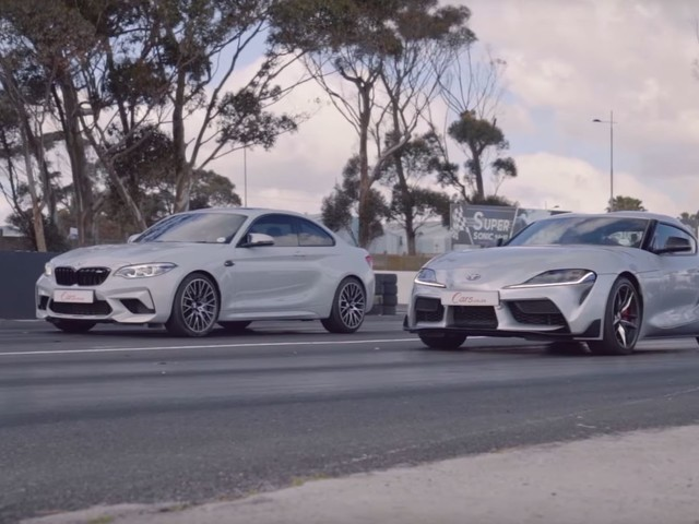 Video: BMW M2 Competition Drag Races New Toyota Supra