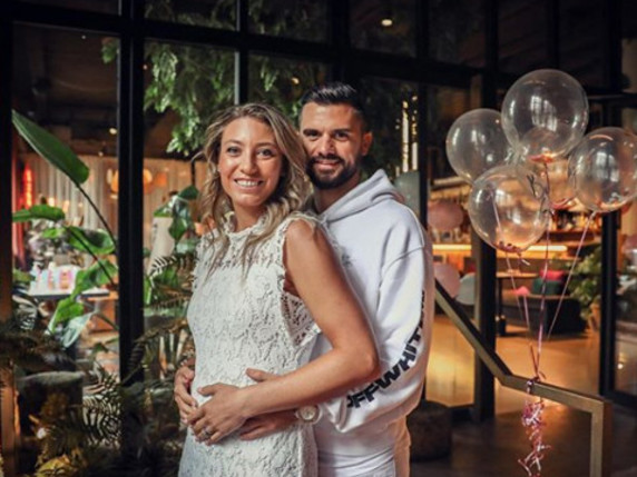 Yanina Wickmayer announces pregnancy