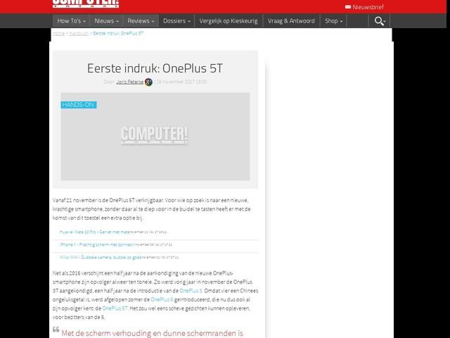 Eerste indruk: OnePlus 5T
