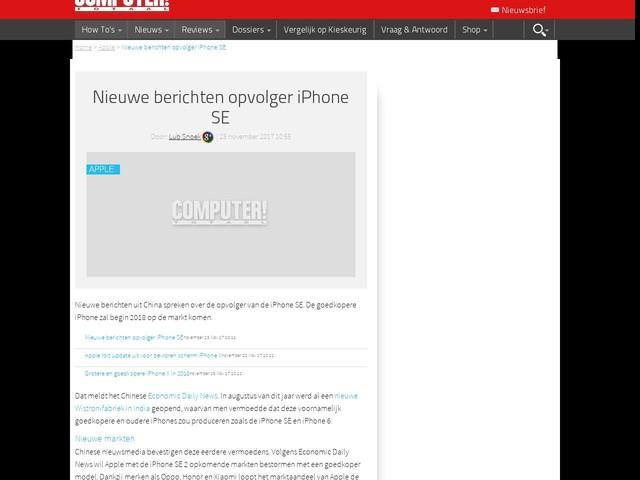 Nieuwe berichten opvolger iPhone SE