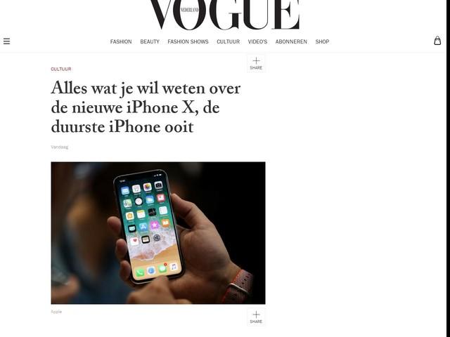 Alles wat je wil weten over de nieuwe iPhone X, de duurste iPhone ooit