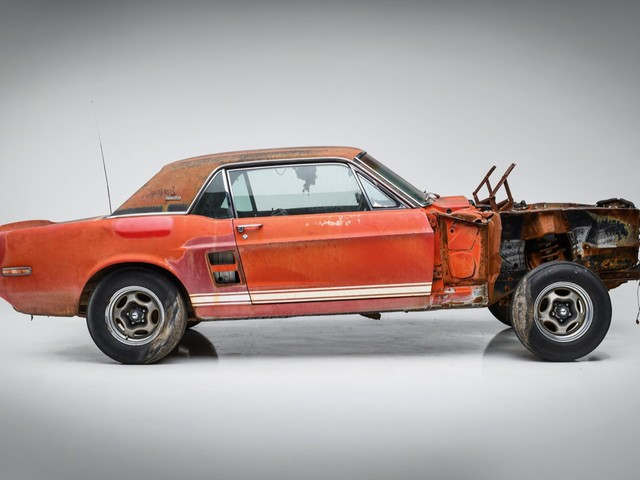 Restored 'Green Hornet' And 'Little Red' Shelby GT500 Mustangs debut at the Barrett-Jackson Scottsdale auction