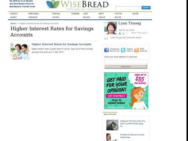 Higher Interest Rates for Savings Accounts