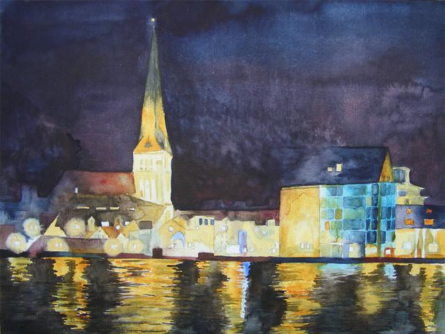 Kirchen in unserem Land und meinen Aquarellen
