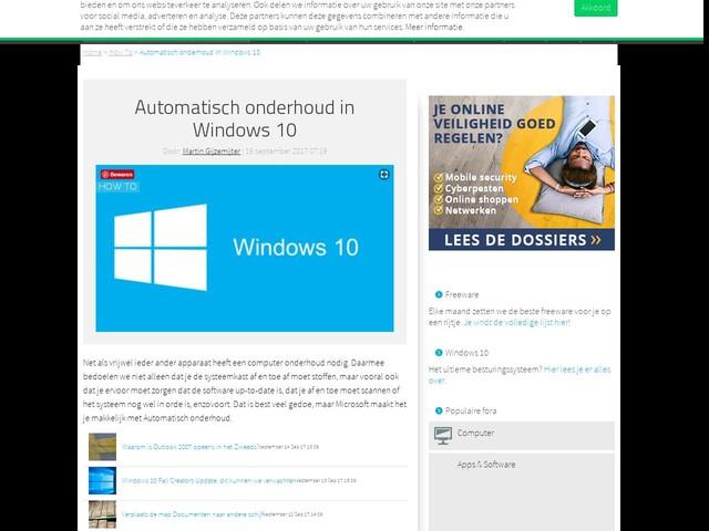 Automatisch onderhoud in Windows 10