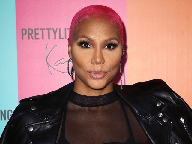 Are You Feeling This Hairstyle? Tamar Braxton Colors Her Baldy Magenta