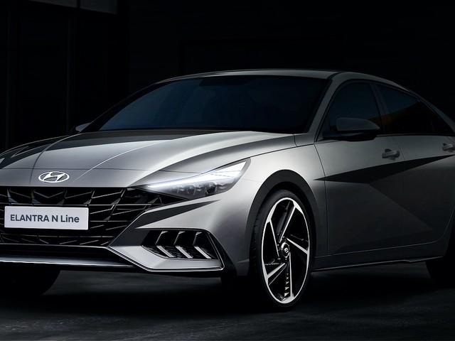 2021 Hyundai Elantra N Line teased again