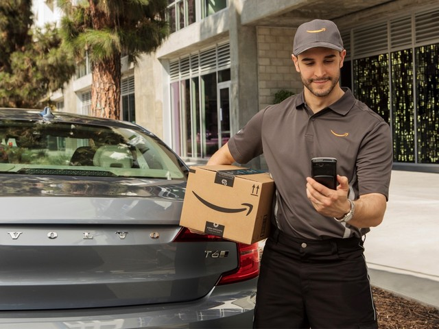 Amazon packages can now be delivered to your GM or Volvo