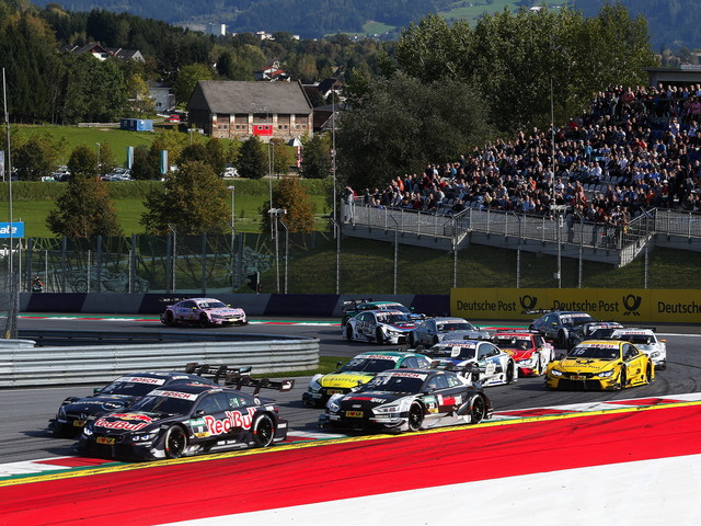 Three BMW M4 DTMs in the points at the Red Bull Ring