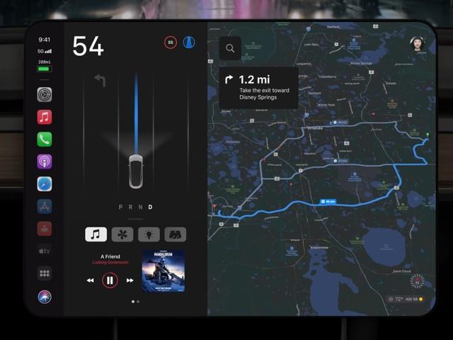 Concept: wat de Apple Car en CarPlay kunnen leren van de Tesla Model 3
