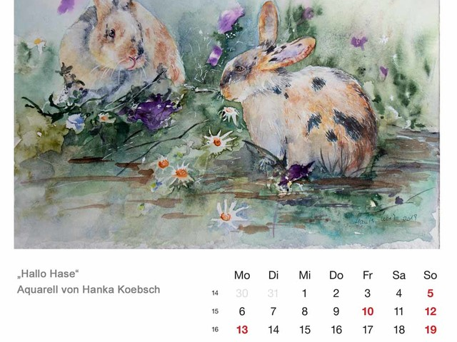 Kalenderblatt April 2020
