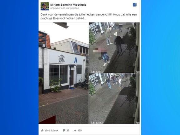 Viswinkel in Oldenzaal zet beelden vernieling op Facebook, daders melden zich razendsnel