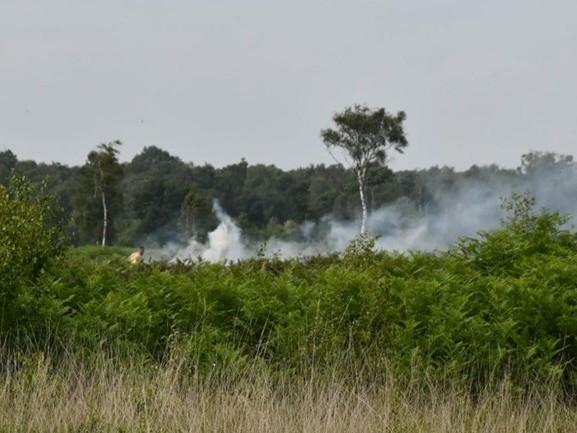 Brandweer blust grote natuurbrand bij Enschede