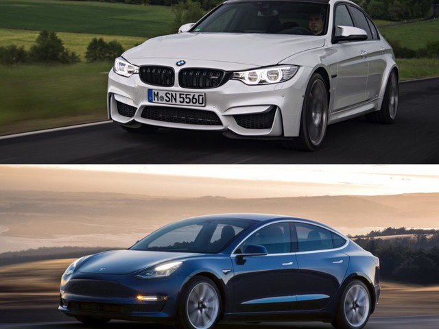 Top Gear races Tesla Model 3 Performance against the BMW M3 and others