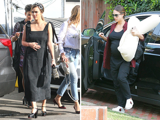 Jessica Alba Celebrates At Her Baby Shower And Then Hits The Gym For Some Prenatal Exercise