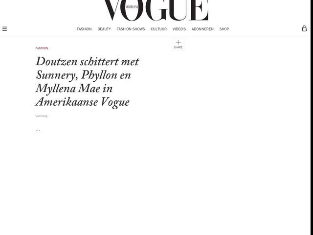 Doutzen schittert met Sunnery, Phyllon en Myllena Mae in Amerikaanse Vogue