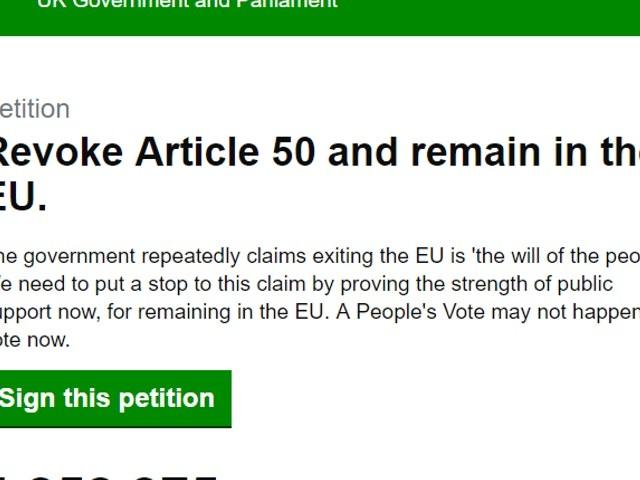 Recordaantal Britten tekent petitie voor stopzetten brexit