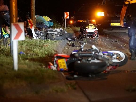 Motorrijders gewond na ongeval bij Deventer, N344 afgesloten