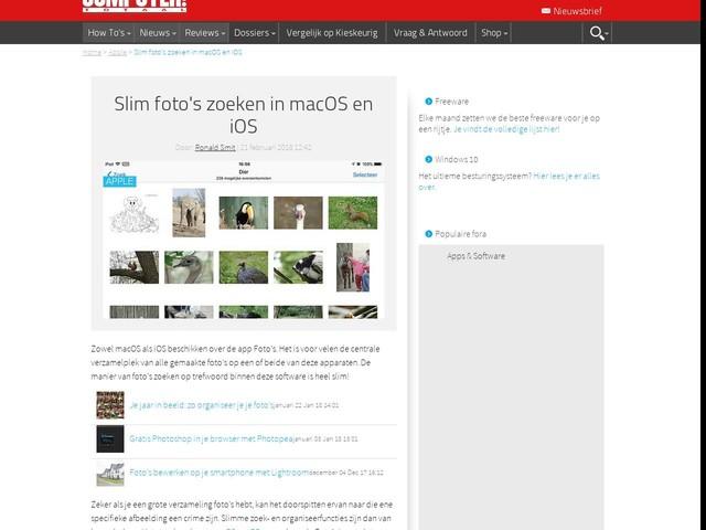 Slim foto's zoeken in macOS en iOS