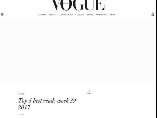 Top 5 best read: week 39 2017