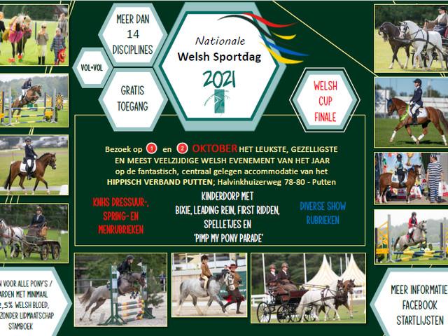 Nationale Welsh Sportdag te Putten op 1 en 2 oktober