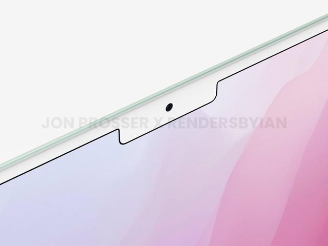 'Nieuwe renders MacBook Air 2022 tonen witte notch en dunne bezels'