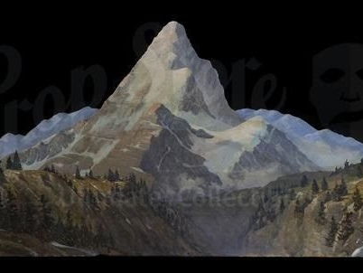 You Could Own The Hand-Painted Paramount Mountain From The Indiana Jones Movies