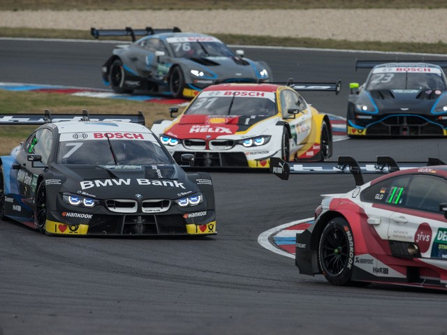Four BMW M4 DTM cars in the points at the Lausitzring