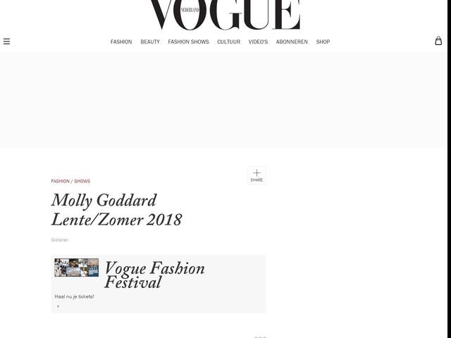 Molly Goddard Lente/Zomer 2018