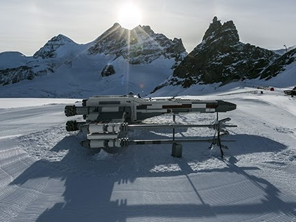 Life-Sized LEGO Star Wars X-Wing lands on the Top of Europe