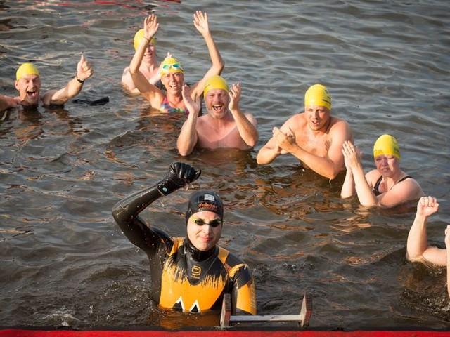 Deze keer haalt Maarten genietend de finish
