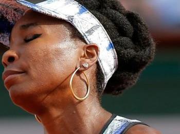 Ook Venus Williams klaar op Roland Garros
