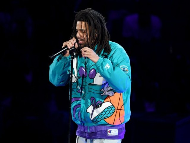 J. Cole Performs at 2019 NBA All-Star Halftime Show