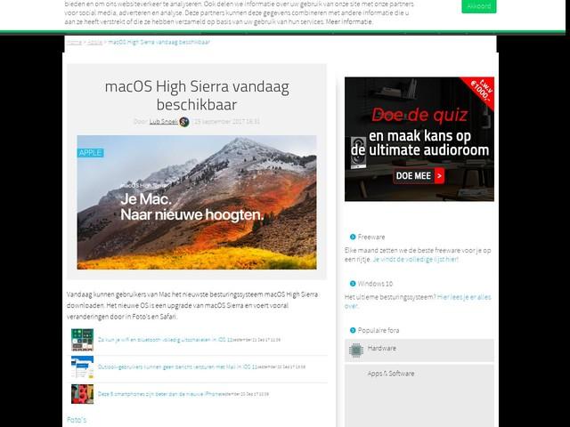 macOS High Sierra vandaag beschikbaar