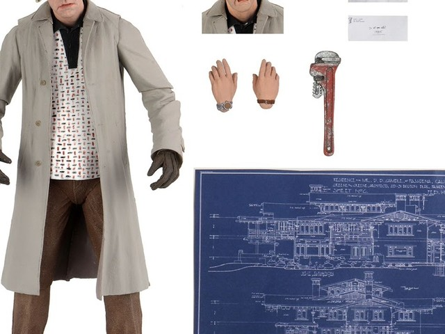 """NEW: Back To The Future - 7"""" Scale Action Figure - Ultimate Doc Brown From NECA"""