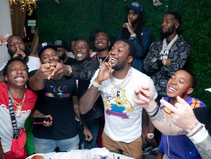 Cognac Convos: Meek Mill Hosts Star Studded, D'USSE Sippin' Dinner During Bet Experience