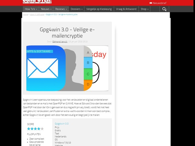 Gpg4win 3.0 - Veilige e-mailencryptie
