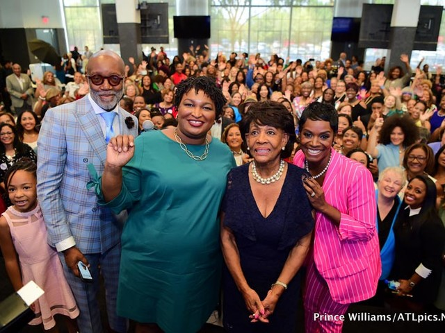 Rep. Maxine Waters, Monica, Keri Hilson, Kandi Burruss And More Support Stacey Abrams For Georgia Governor