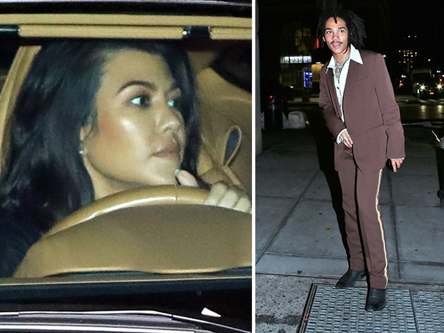 EXCLUSIVE PHOTOS - Kourtney Kardashian Has A Hot Date With Rumored New Boyfriend Lukas Sabbat