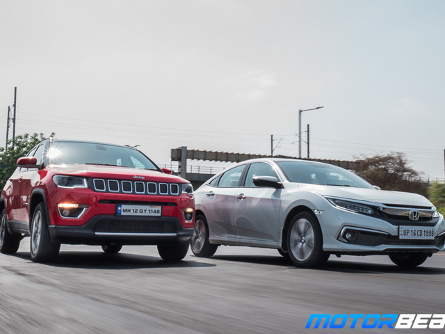Honda Civic vs Jeep Compass – Shootout [Video]