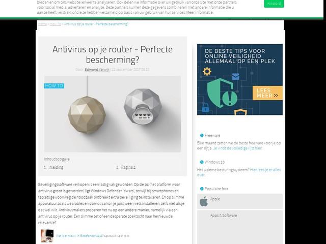 Antivirus op je router - Perfecte bescherming?