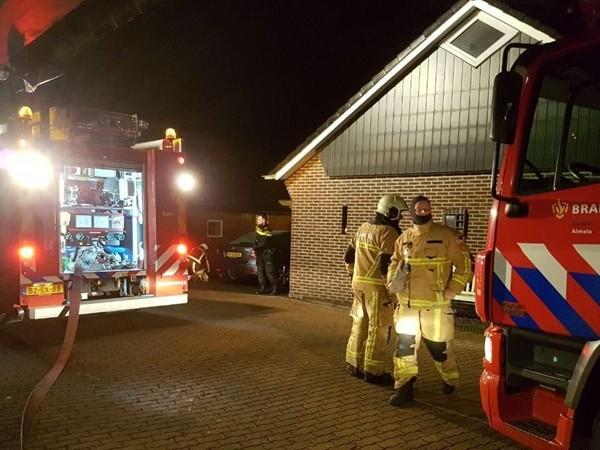 Brandje in schoorsteen van woning in buitengebied Geesteren